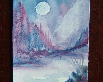 Fantasy art painting watercolour original (ref 371)