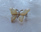 Butterfly Brooch, Vintage  Brooch, Mother of Pearl Brooch, Insect Brooch, Gift for Her