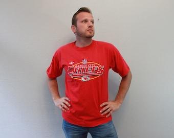 Vintage Kansas City Chiefs Red Tee Shirt NFL Shirt