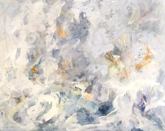 Colorful Expressionist Abstract Original Painting - Water Wings 30 x 40