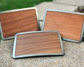 Real Wood Belt Buckle - Modern Minamalist Style in Gunmetal Gray