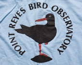 Point Reyes Bird Observatory T-Shirt, Wildlife Conservation, Vintage 80s-90s