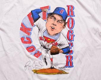 Rocket Roger Clemens Ringer T-Shirt, 1986, Boston Red Sox, Vintage 80s