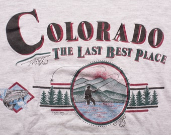 Colorado Fly Fishing T-Shirt, Outdoor Sports Recreation, Vintage 90s