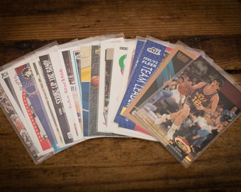 John Stockton Lot of 20 Basketball Cards, Utah Jazz, Vintage 80s-90s