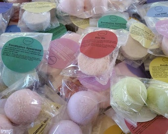 Sampler Box 50 gift bags Spa Party Bath Bomb fizzies with 2 bath bombs per bag (randomly selected)