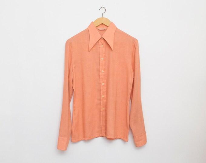 70s Nos vintage pink blouse