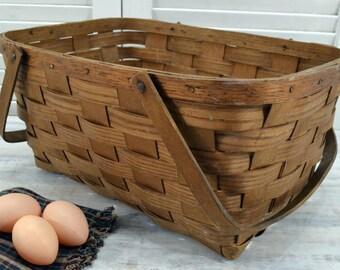 Basketville Picnic Basket - storage and display - Vintage Farmhouse Basket