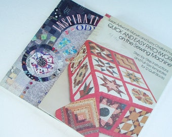 Quilting Books Lot of Two Quick and Easy and Inspiration Odyssey Full Size Block Pattern and Design Inspiration 1998
