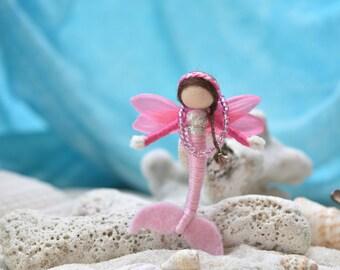 Miniature mermaid doll