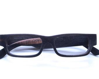 Takemoto  Henry Handmade Ebony Wooden Eyeglasses