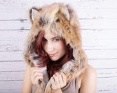 American Red Fox Faux Fur Full hat