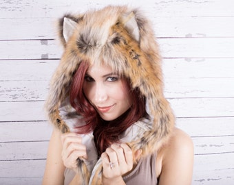 American Red Fox Faux Fur Full hat