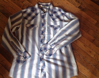Vintage Men's Rocking Ranchwear Kennington Western Shirt Size Large