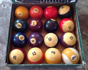 Vintage Aramith Belgium Pool Balls