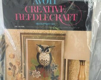 Avon creative needle craft kit, Avon Owl  Needlecraft