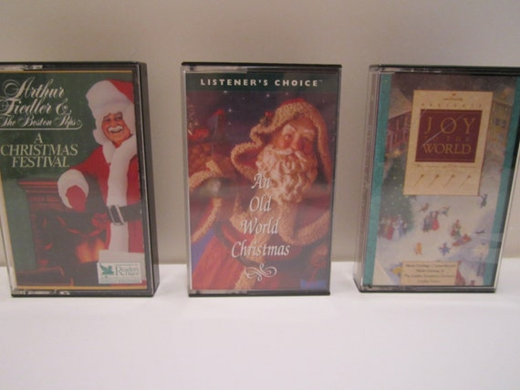 Vintage Christmas Cassette Tapes - Arthur Fiedler Boston Pops - Hallmark Presents Joy to the World - An Old World Christmas - CHOICE