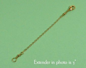 8 Inch Necklace Extender - Gold Plated