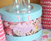 Pastel Kei Kittywood Designs Orginal Melty Bat Necklace Pastel Pink x Lavender