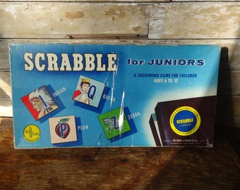 Vintage  Scrabble Junior  Made In The USA 1958