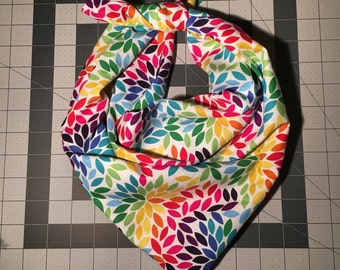 LARGE - LIMITED EDITION Flower Petal Dog Bandana - About 29 Inches.