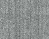Gray Herringbone Fabric Shetland Flannel Herringbone Fabric in Grey by Robert Kaufman Fabrics - 1 Yard