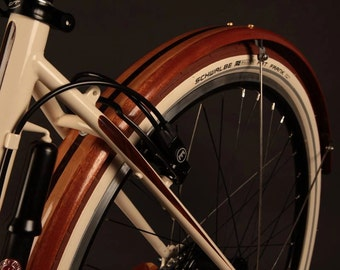 Wood Bike Fenders- Fully Shaped Compound Curve Woody's fenders. Mud guards, splash guard, bike add on, bike fenders, Pashley, Guvnor, bike