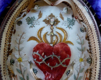 Antique French Sacred Heart Reliquary, A Talisman for the Passionate , offered by RusticGypsyCreations