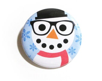 Christmas Pins Snowman Accessories Hipster Nerd Glasses Snowman XMas Party Favors Christmas Pinback Buttons