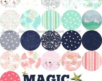 Fat quarter bundle of Magic collection by Sarah Jane for Michael Miller Fabrics - 21 fat quarters