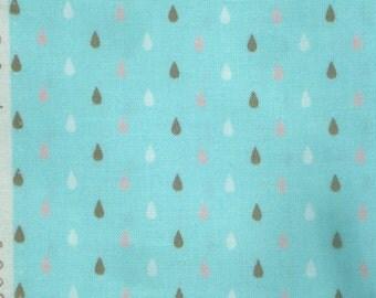 Tula Pink Hushabye Droplets aqua moda fabric FQ