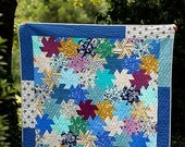 Twirly Top Patchwork Throw Quilt