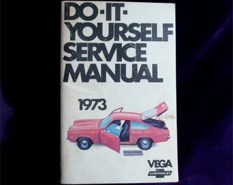 Clean Condition GMC 1973 Chevy VEGA Service MANUAL Book