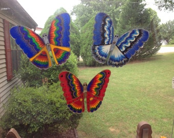Beautiful Butterflies made from Recycled Soda Bottles