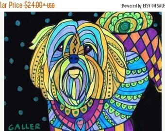Marked Down 50% - Yorkinese Terrier Yorkie Pekegese Mix Heather Galler art dog  Art Print Poster by Heather Galler (HG915)