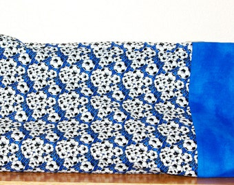 Blue Soccer Travel Pillowcase, Custom Youth, Child Gift, Personalized With First Name, No Shipping Fee, Ships TODAY AGFT 684