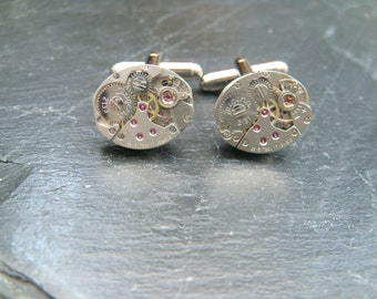 Dugena Watch Movement Cufflinks  ideal gift for the steampunk lover