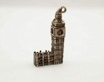 Vintage Sterling London Big Ben Clock Tower Charm