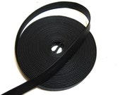 """3/4"""" Double Folded with Reinforcment, Cowhide Leather Strap in Black Deertan (3YDS) 0750RD"""