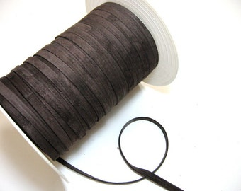 """Suede Lacing 3/8"""" Double-folded and Reinforced in Med Brown (4 yds) 3252XP"""