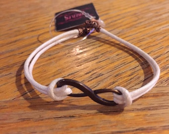Infinity bracelet,  Never Ending Love and Friendship bracelet