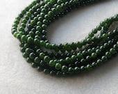 Dark Green Jade Beads, Gemstone Beads, Jewelry Making Beads, Beads for Designing, Round Beads, Jade Beads, Craft Supplies, Christmas Beads