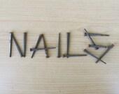 Two Dozen Vintage Wrought Head - Square Nails - FREE USA SHIPPING!