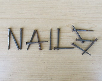 Two Dozen Vintage Wrought Head - Square Nails - FREE USA SHIPPING!