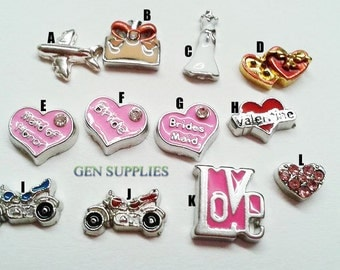Floating Charms, Charms For Floating Memory Lockets, Floating Glass Locket, Personalized Floating Memory Locket