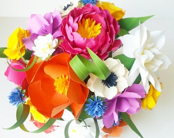 Kate Spade inspired paper flower bouquet - wedding - home decor