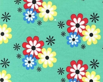 Michael Miller Summer Flower Frolic Sprout fabric - 1 yard