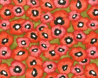 Michael Miller Valencia Petite Poppy Olive Fabric - 1 yard