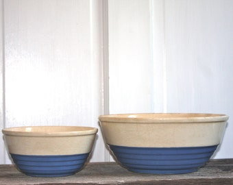 Vintage Blue mixing bowls for baking