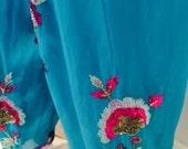 Vintage Turquoise Chiffon...